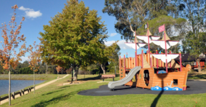 parks in the Blue Mountains, the Pirate Ship Park Wentworth Falls