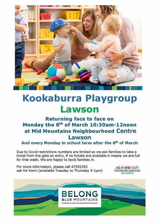 kookaburra playgroup lawson
