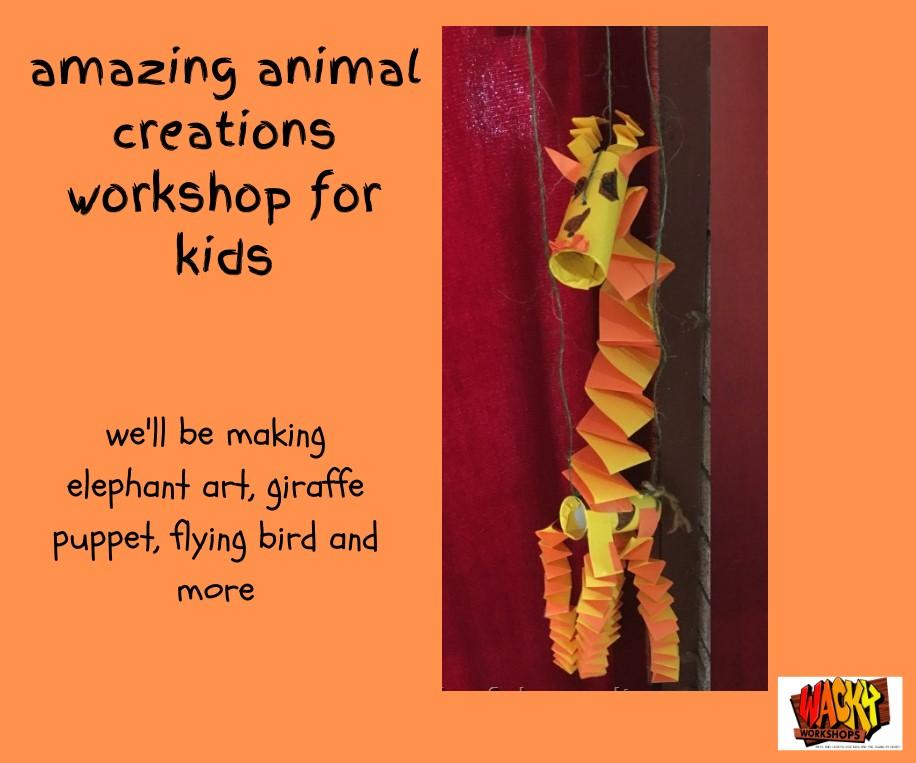 amazing animals art workshop glenbrook blue mountains school holidays activities