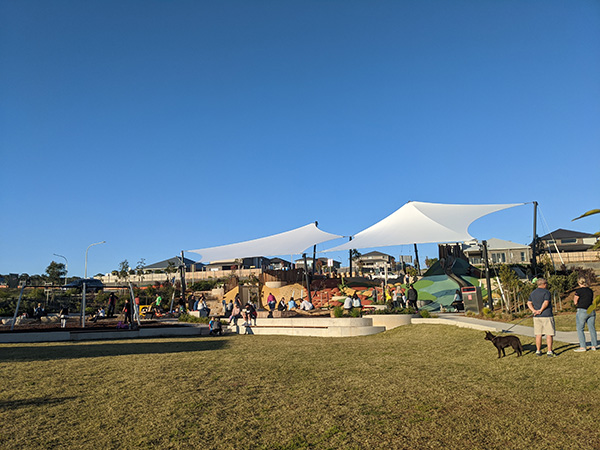 Linear Park Mulgioa Rise, new playground for kids in Western Sydney