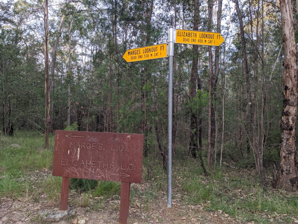 bushwalk safety, Marge's Lookout and Elizabeth Lookout