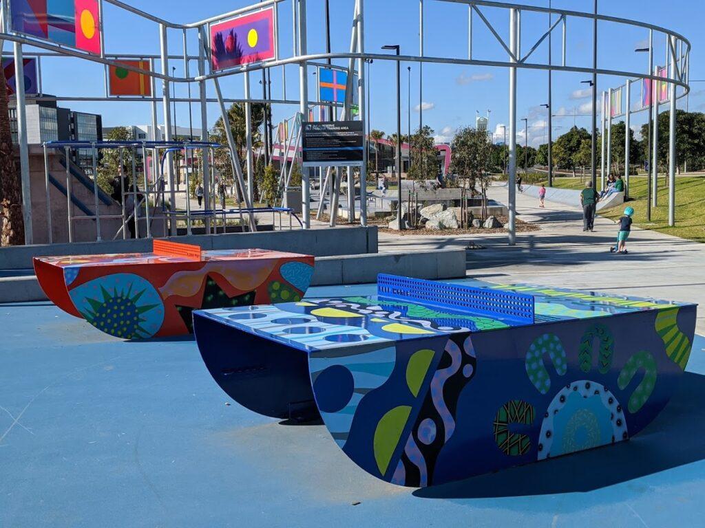 Julia Reserve Youth Precinct table tennis
