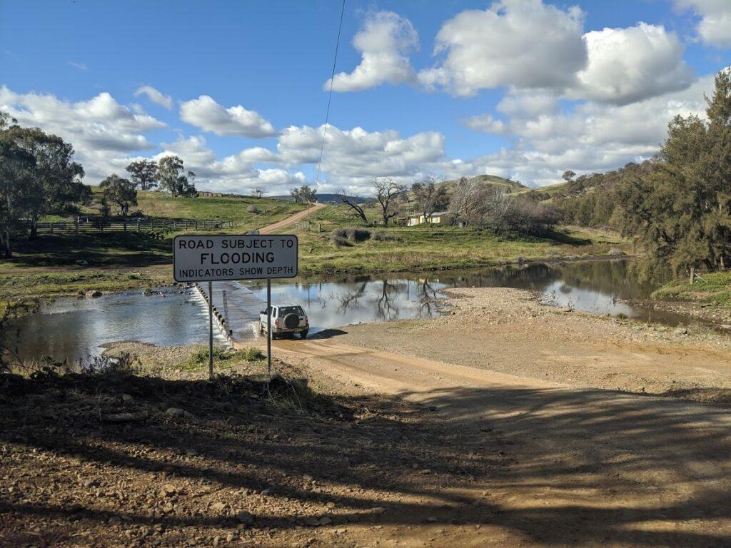 Sofala gold panning, near Bathurst, river crossing