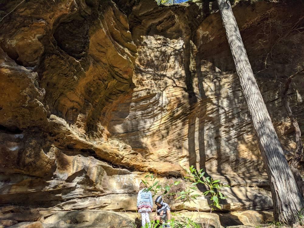 birdwood gully sandstone overhangs