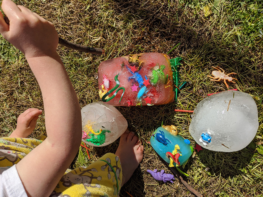 fun craft idea to dig for fossils at bush playgroup in the Blue Mountains