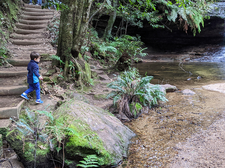 children love bushwalking at Pool of Siloam bush playgroup in the Blue Mountains