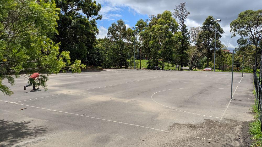 churchill street bike path springwood netball courts