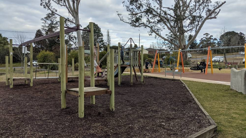 melrose junior skate park north katoomba old and new play equipment