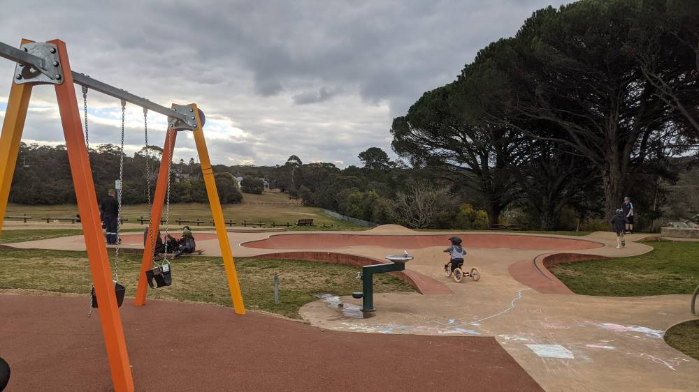 melrose junior skate park north katoomba little boy on tricycle