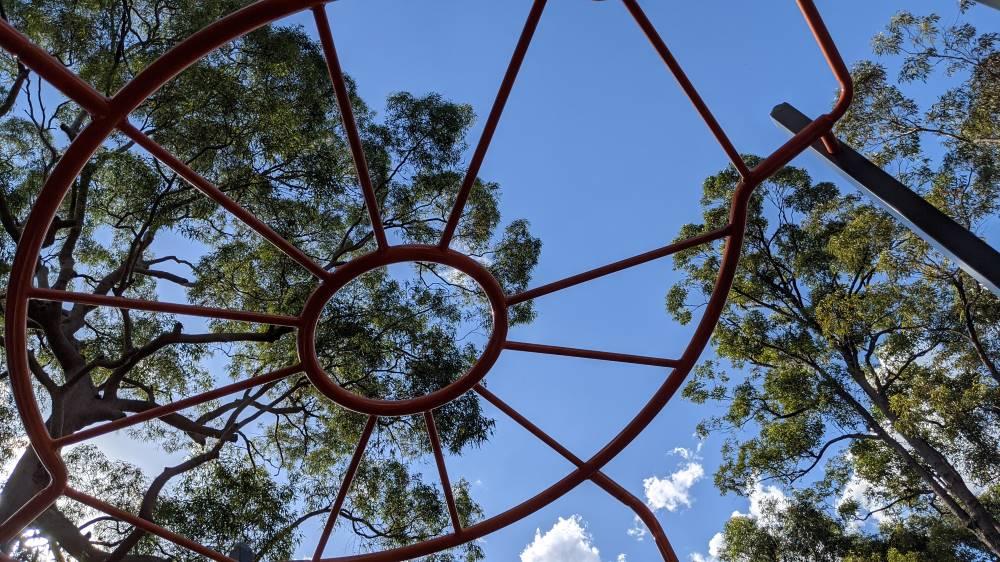 st john's playground blaxland round monkey bars