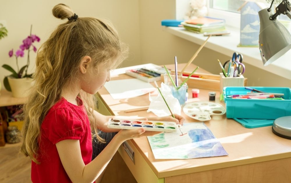 calm down activities for kids, painting