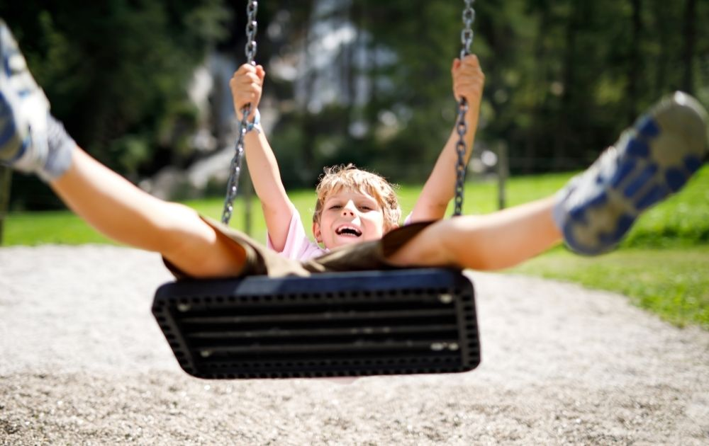 calm down activities for kids, swings