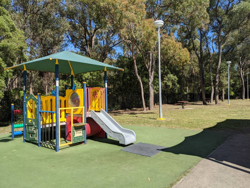 glenbrook pool playground and grass area