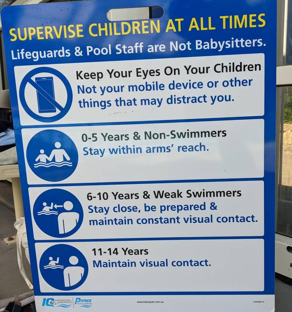glenrbook pool water safety guidelines