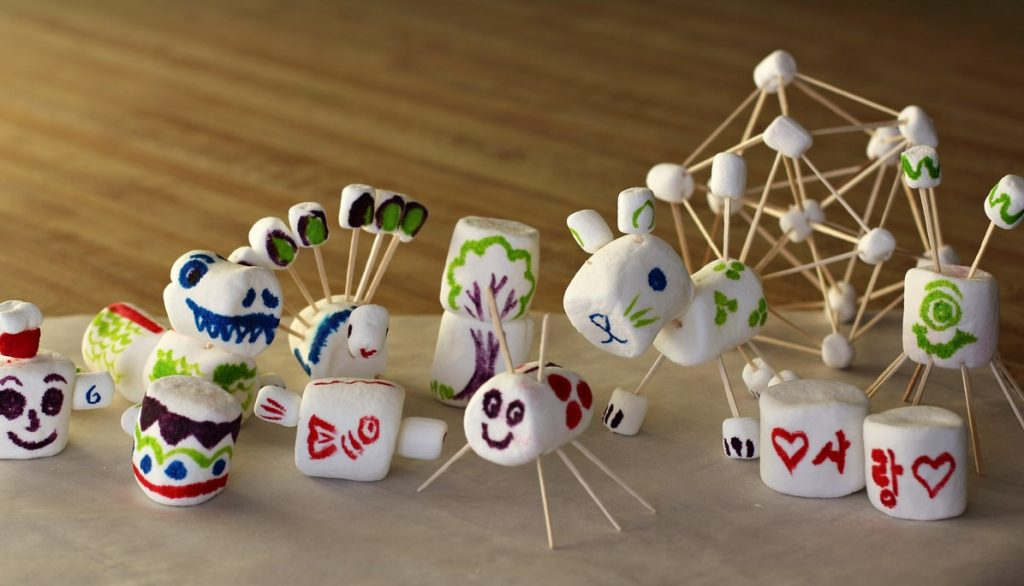 marshmallow animals for kids craft on halloween
