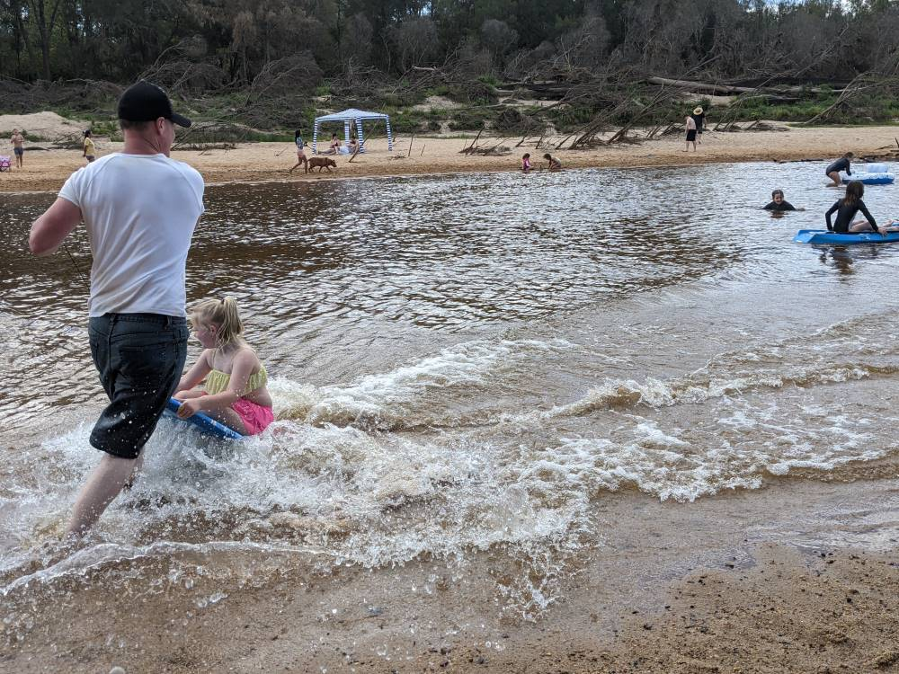 Yarramundi Reserve water play fun Blue Mountains