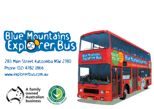 blue mountains explorer bus poster