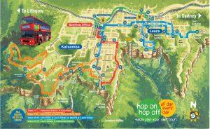 blue mountains explorer bus route
