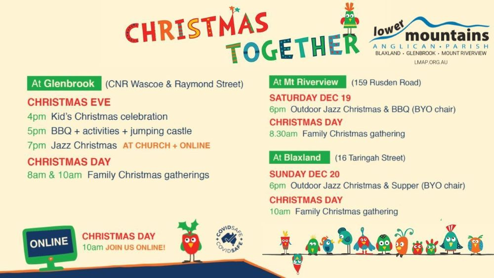 Christmas in the Blue Mountains 2020 Lower Mountains Anglican Church Glenbrook