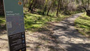fairfax heritage track blackheath blue mountains national park walk entrance