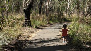 fairfax heritage track blackheath blue mountains national park girl running