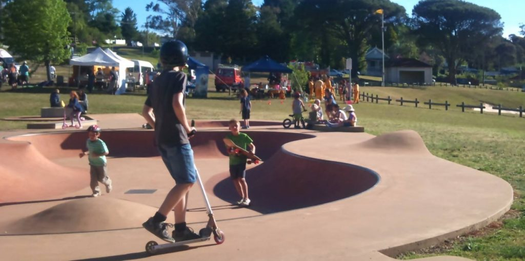 best bike paths blue mountains, melrose junior skatepark north katoomba