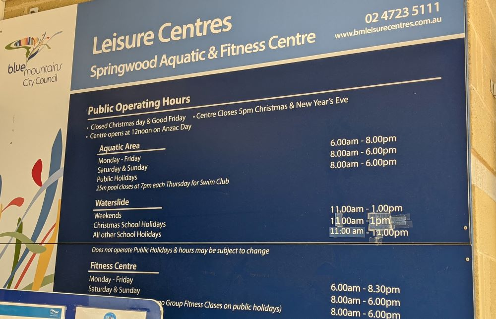 springwood aquatic and leisure opening hours