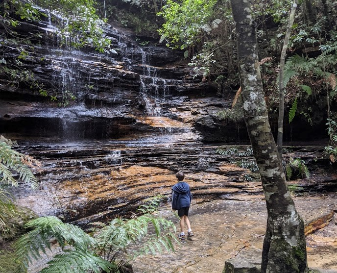 Things To Do In The Blue Mountains cool off on the five waterfalls loop track south lawson
