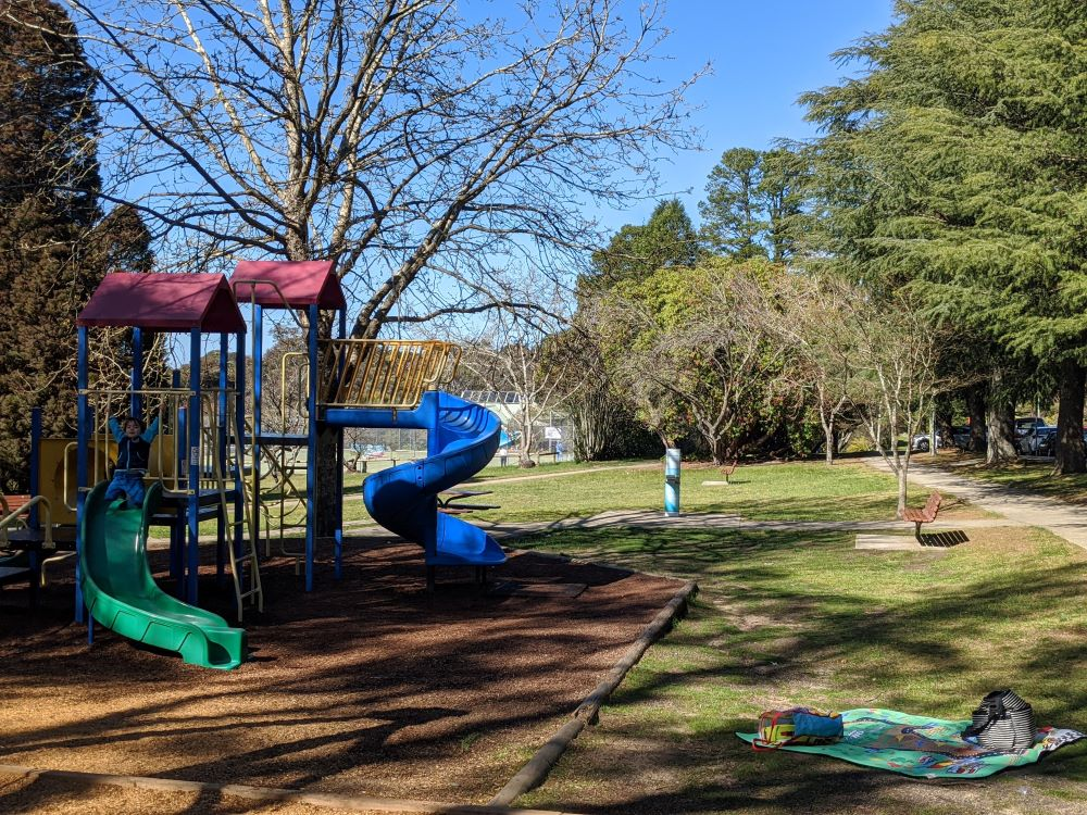 wilson park and playground wentworth falls blue mountains national park slide