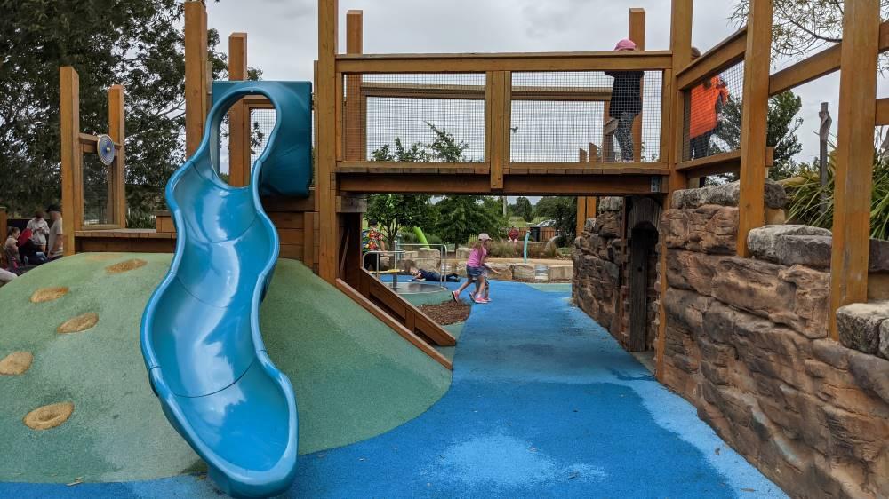 slide and bridge at Governor Phillip Park Windsor