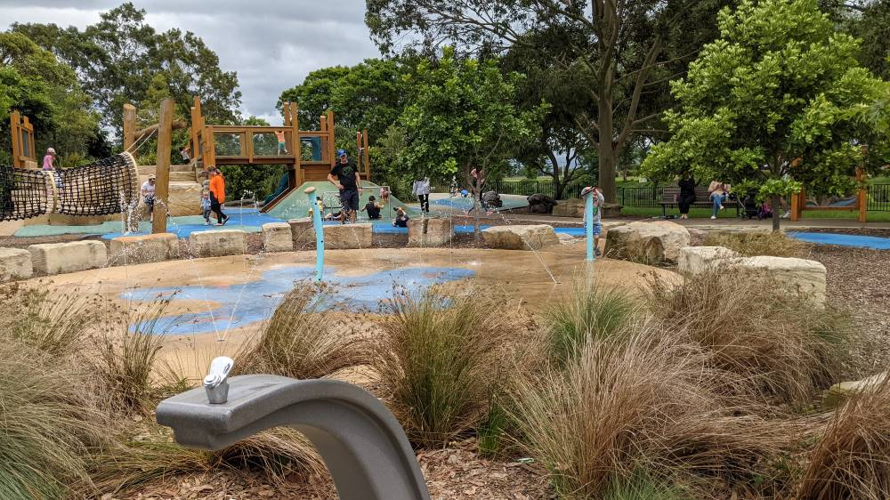 water play at Governor Phillip Park Windsor