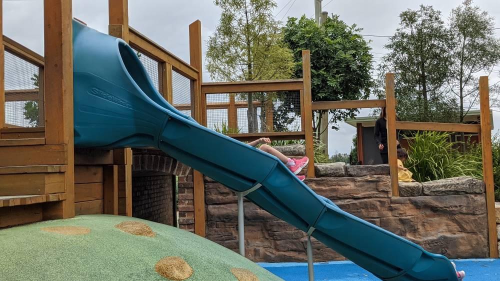 blue slide at Governor Phillip Park Windsor