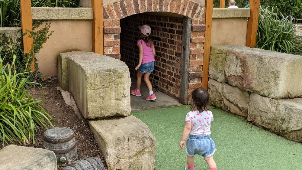 old style tunnel at Governor Phillip Park Windsor