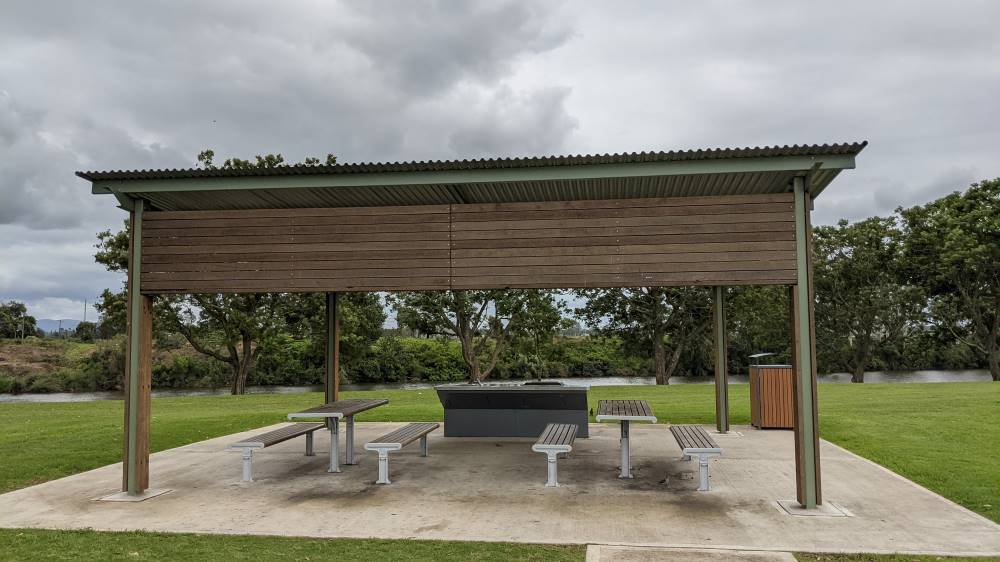 sheltered barbecue and picnic area at Governor Phillip Park Windsor