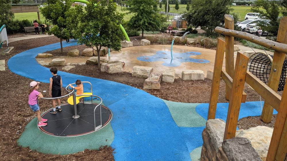 water play area at Governor Phillip Park Windsor and playground