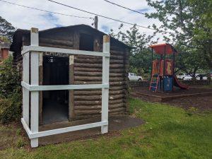 hinkler park katoomba log cabin toilets