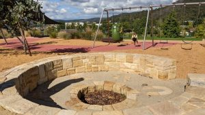lithgow adventure playground fire pit and seating