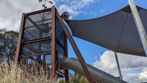 lithgow adventure playground shade cloth over slide