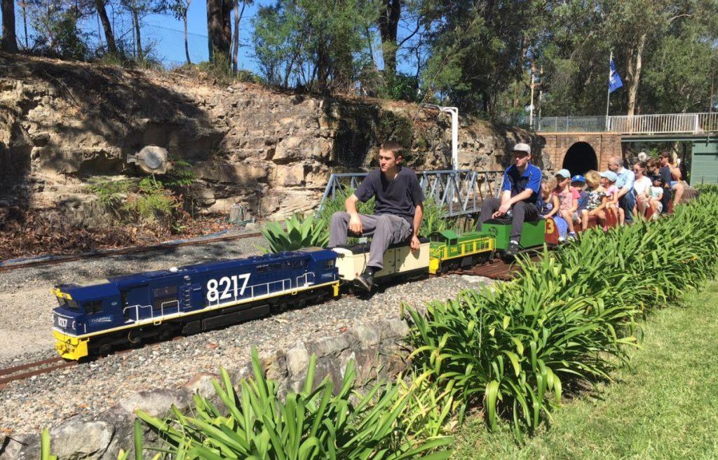 wascoe siding blaxland blue mountains miniature railway