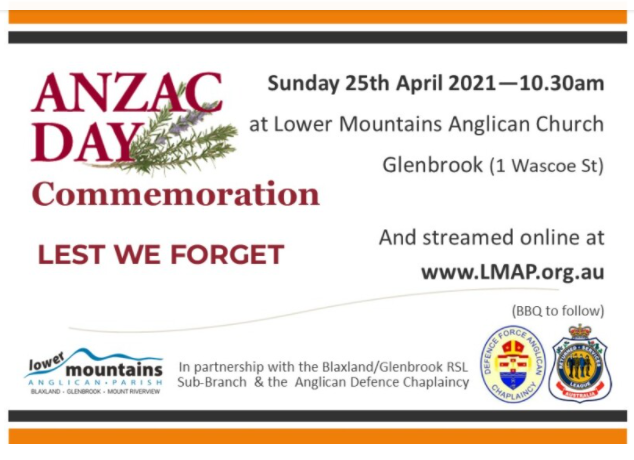 ANZAC Day Blue Mountains Lower Mountains Anglican Parish