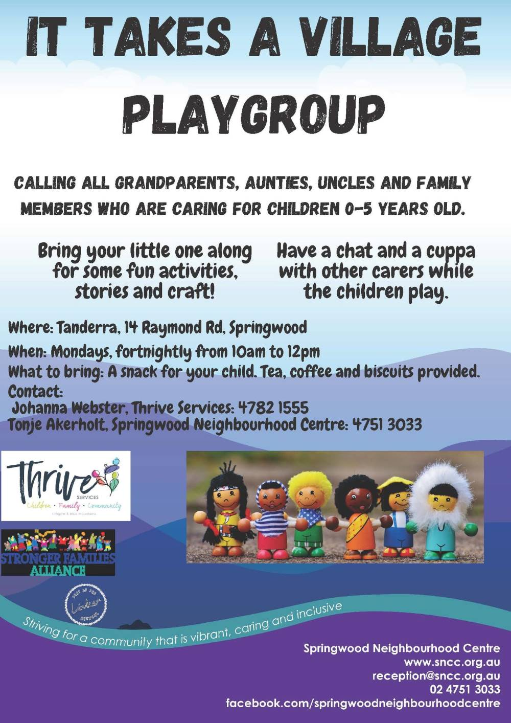 springwood playgroup for grandparents in the blue mountains