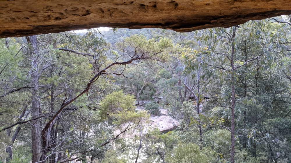 Duck Hole Track view from the cave