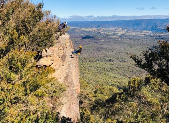 Things To Do In The Blue Mountains abseiling down boar's head with high and wild australian adventures