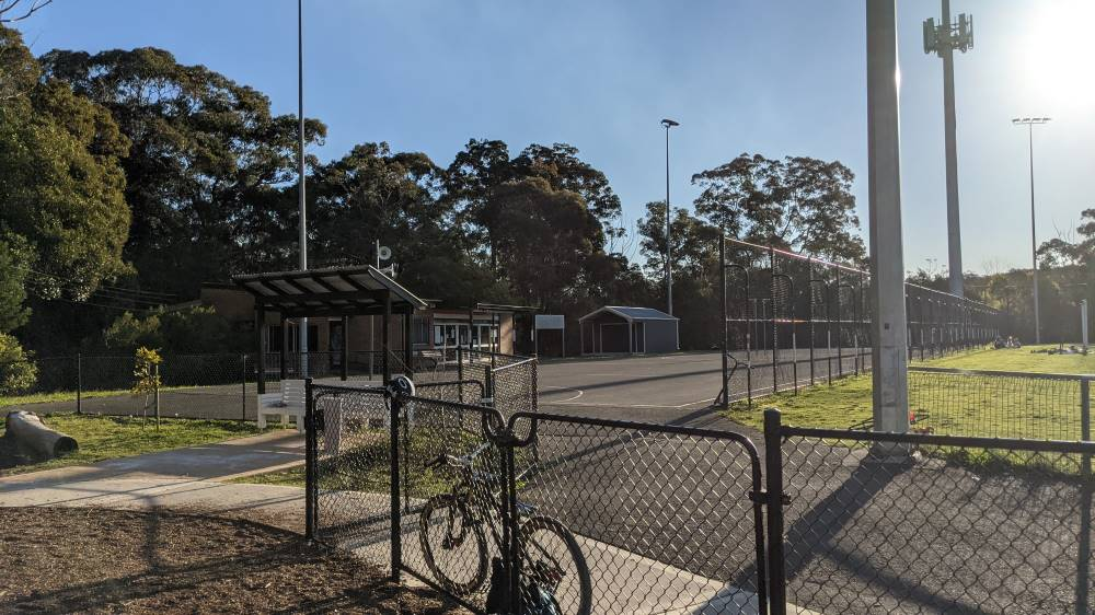 Summerhayes Park Winmalee bike resting on fence at the playground