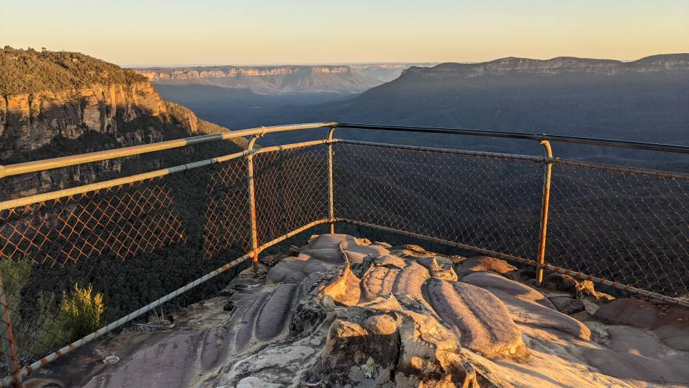 Beautiful sandstone platform at the first lookout.