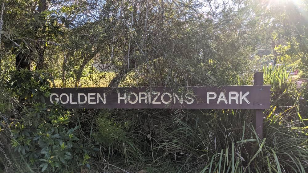 golden horizons park hazelbrook sign
