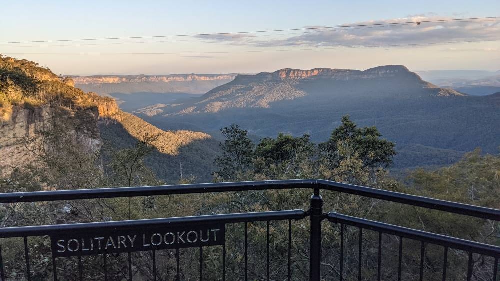 Sublime Point, Leura. solitary lookout